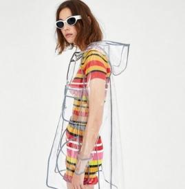 pvc外套时尚 透明时髦摆脱雨衣印象